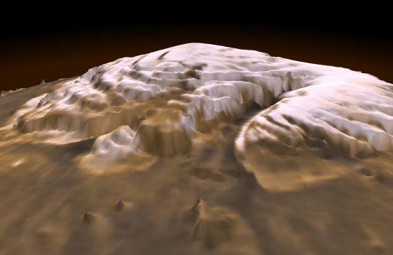 Polo Norte de Marte en 3-D