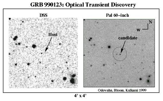 Una galaxia y las explosiones de rayos gamma
