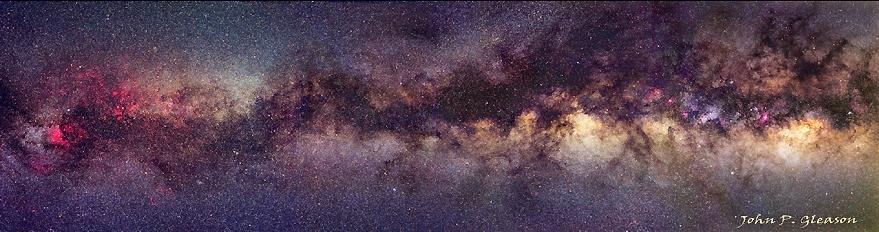 Una franja de la Vía Láctea