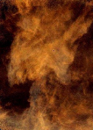 Una nube de hongo galáctica