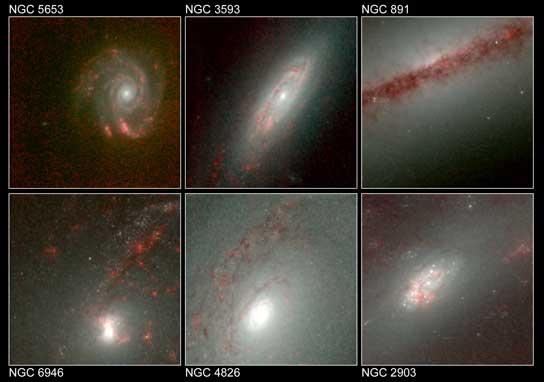 Una galería de galaxias en infrarrojo.