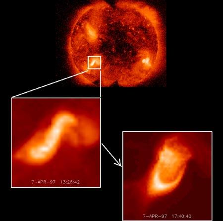 Los sigmoides predicen erupciones solares