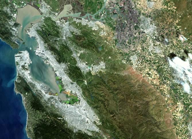 El Landsat 7 mira hacia la Tierra
