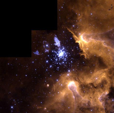 NGC 3603: de principio a fin.