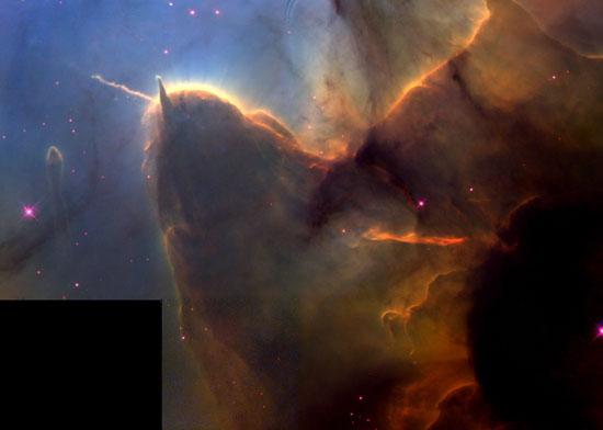 Alumbramiento estelar en la Nebulosa de los Trífidos