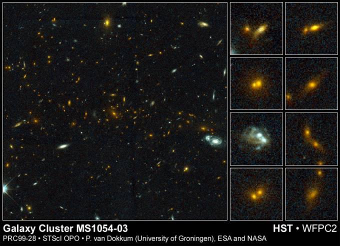 Colisión cósmica en un cúmulo galáctico