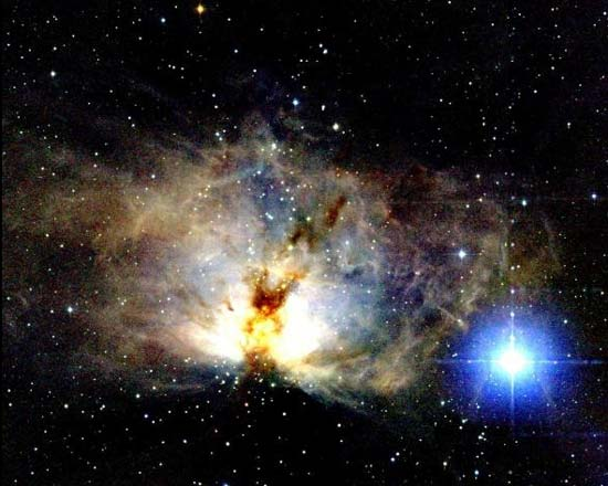 Visión en Infrarrojo de la Nebulosa de la Llama