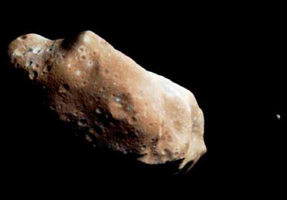 Ida y Dactyl: Asteroide y Luna