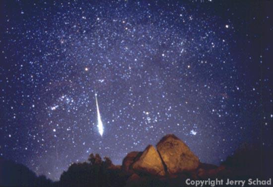 Un meteoro sobre el desierto de Anza-Borrego