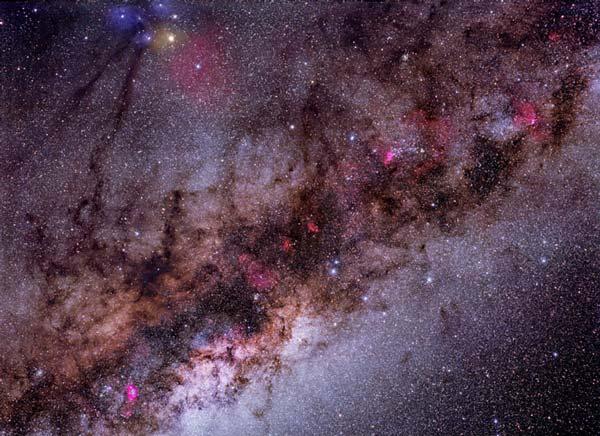 Polvo, gas y estrellas en nuestra galaxia