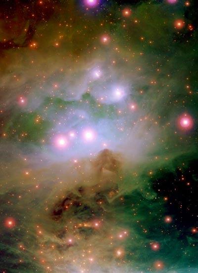 La nebulosa de Orión a todo color
