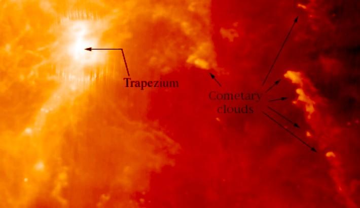 Glóbulos cometarios en Orión