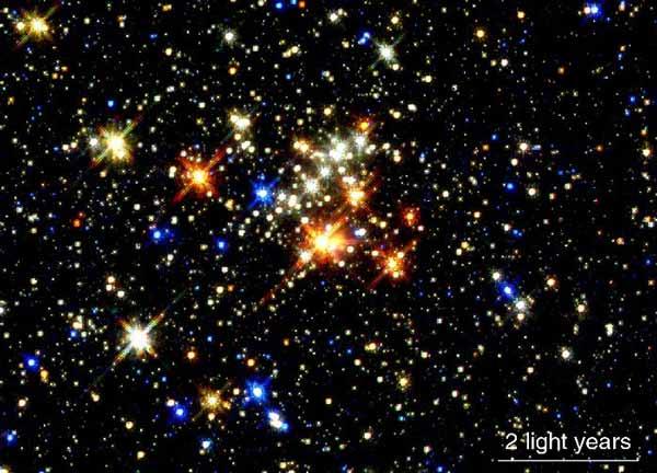 El cúmulo estelar del Quinteto