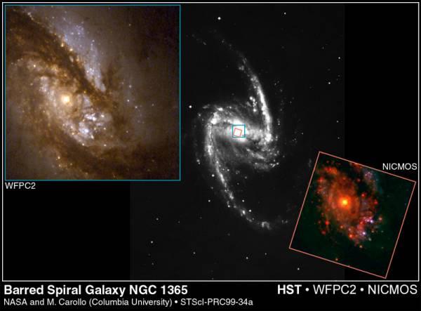 NGC 1365: Spirální galaxie s příčkou