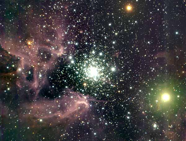 Apod October 18 1999 Ngc 3603 An Active Star Cluster