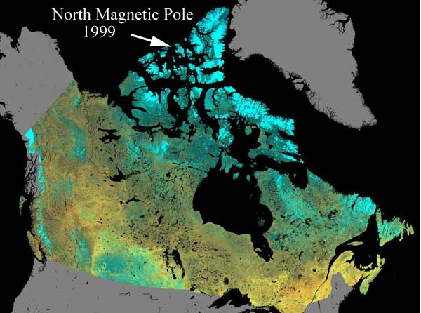 El Polo Norte Magnético de la Tierra