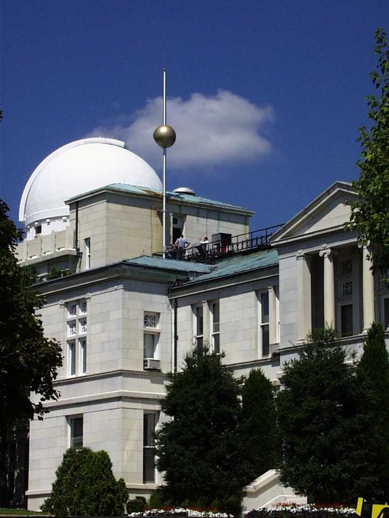 Image result for United States Naval Observatory in Washington, DC, where a time-ball descends from a flagpole at noon each day