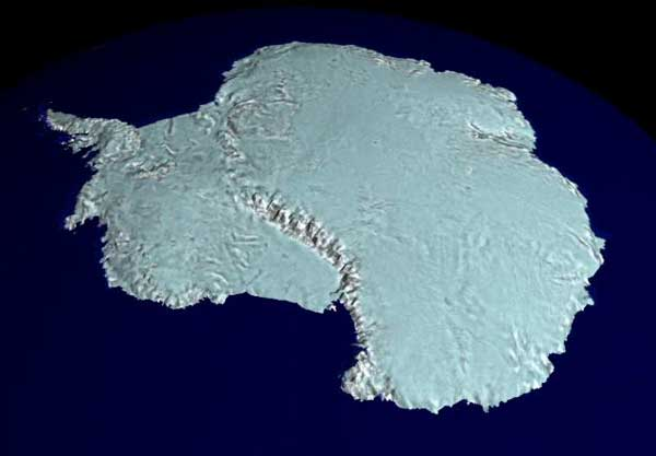 El mapa RADARSAT de la Antártida