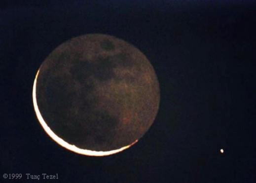 Mercurio y la luna