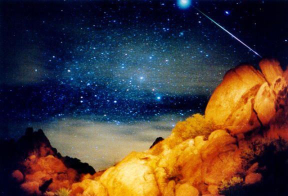 Una leónida A Sirius Leonid Meteor
