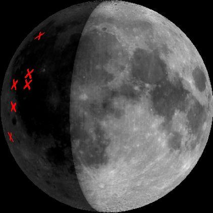 La Luna Golpeada