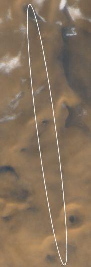 La Elipse Objetivo del Aterrizador Polar de Marte