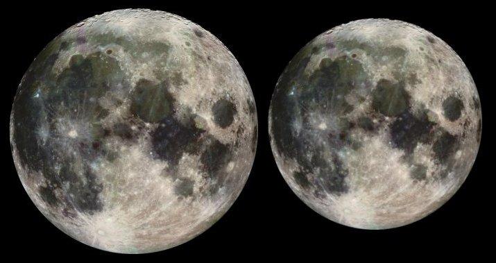 APOD: December 22, 1999 - Perigee Moon, Apogee Moon