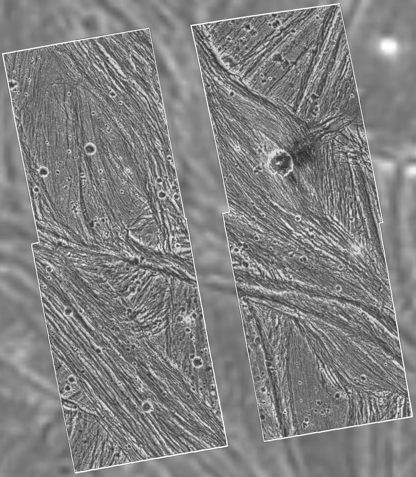 APOD: Galileo Views Ganymede