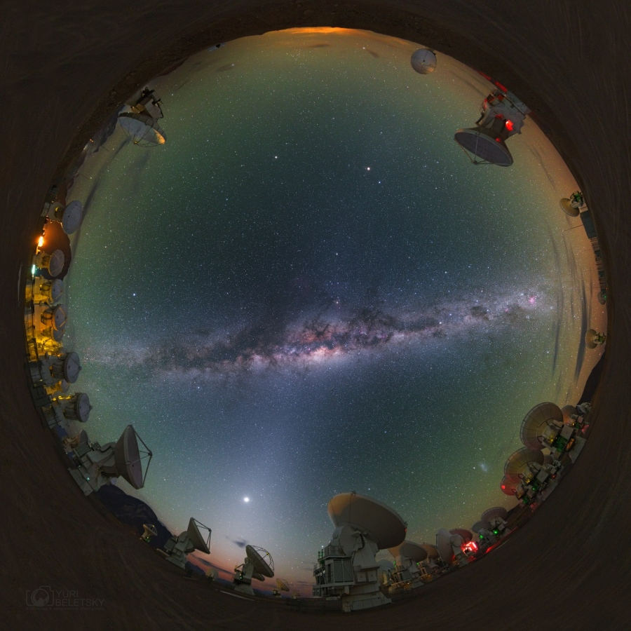 ALMA Milky Way -  This alluring all-skyscape was taken 5,100 meters above sea level,