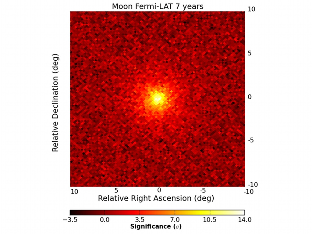 Fermi s Gamma-ray Moon -  If you could only see