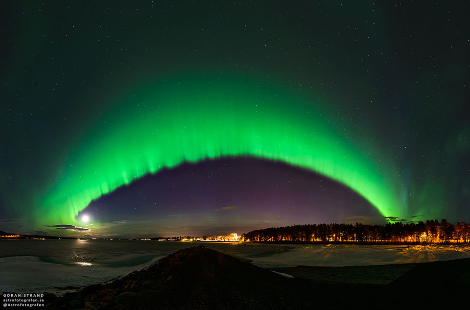Aurora over Sweden    -  It was bright and green and stretched across the sky.