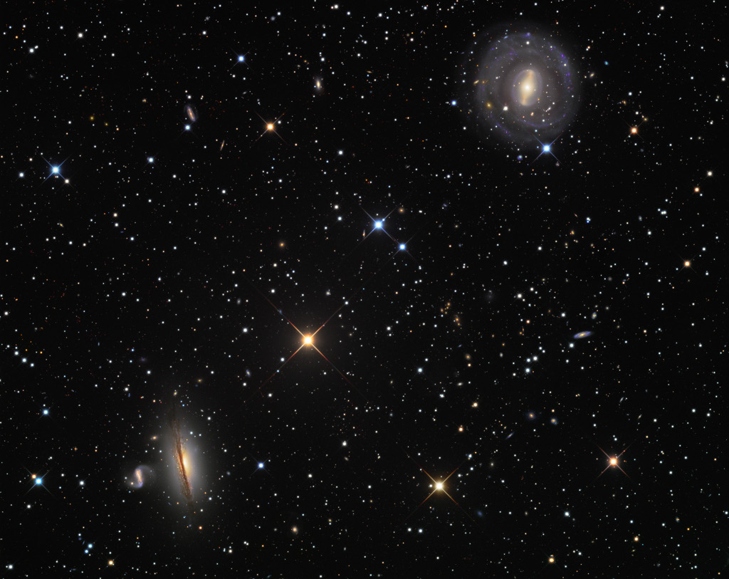 NGC 5078 and Friends -  This sharp telescopic