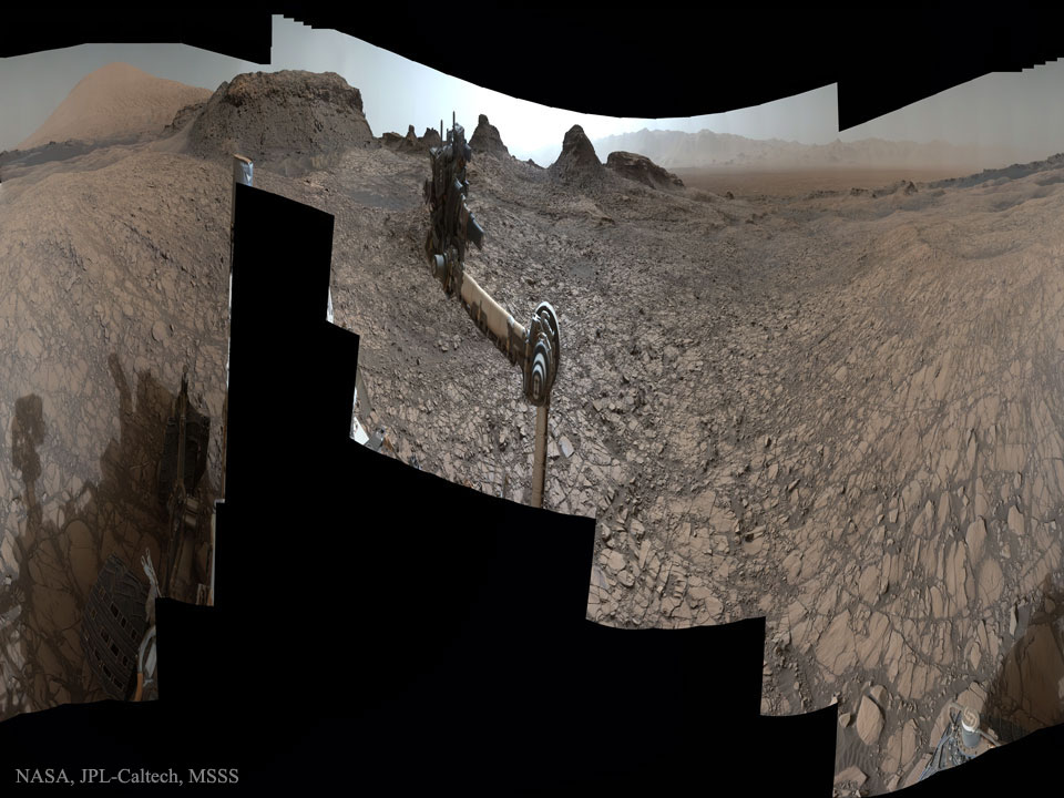 Curiosity at Murray Buttes on Mars  -  What are these unusual lumps on Mars?
