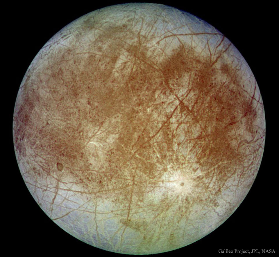 Jupiters Europa from Spacecraft Galileo   -  What mysteries might be solved by peering into this crystal ball?