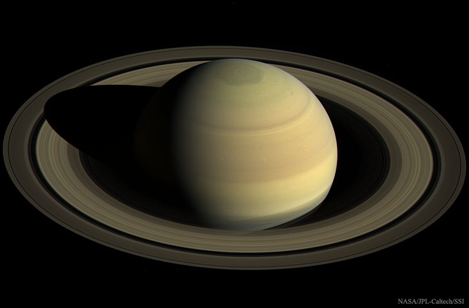 Saturn from Above  -  This image of Saturn could not have been taken from Earth.
