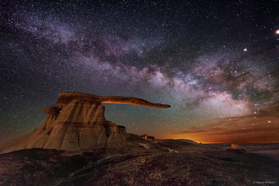 King of Wings Hoodoo under the Milky Way  -  This rock structure is not only surreal -- it