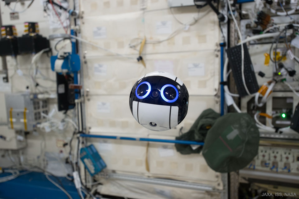 Int Ball Drone Activated on the Space Station  -  What if you were followed around by a