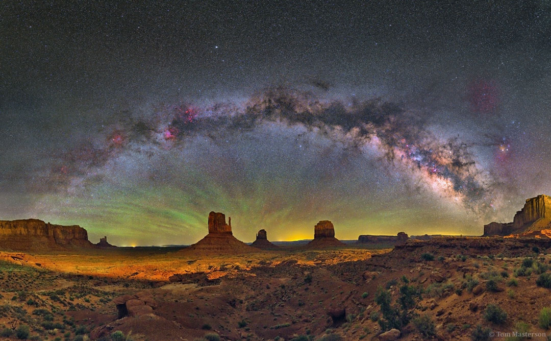 The Milky Way over Monument Valley  -  You don