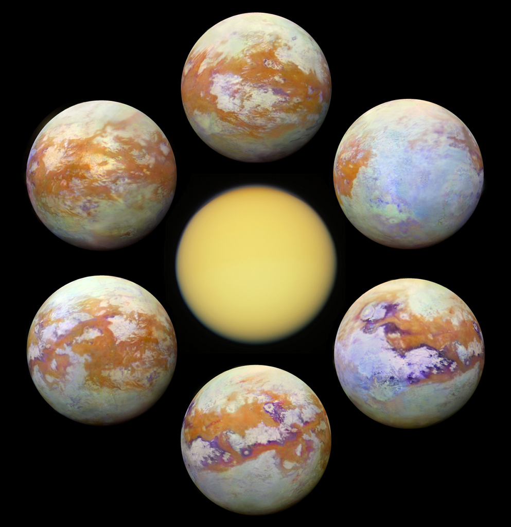 Seeing Titan -  Shrouded in a thick atmosphere,