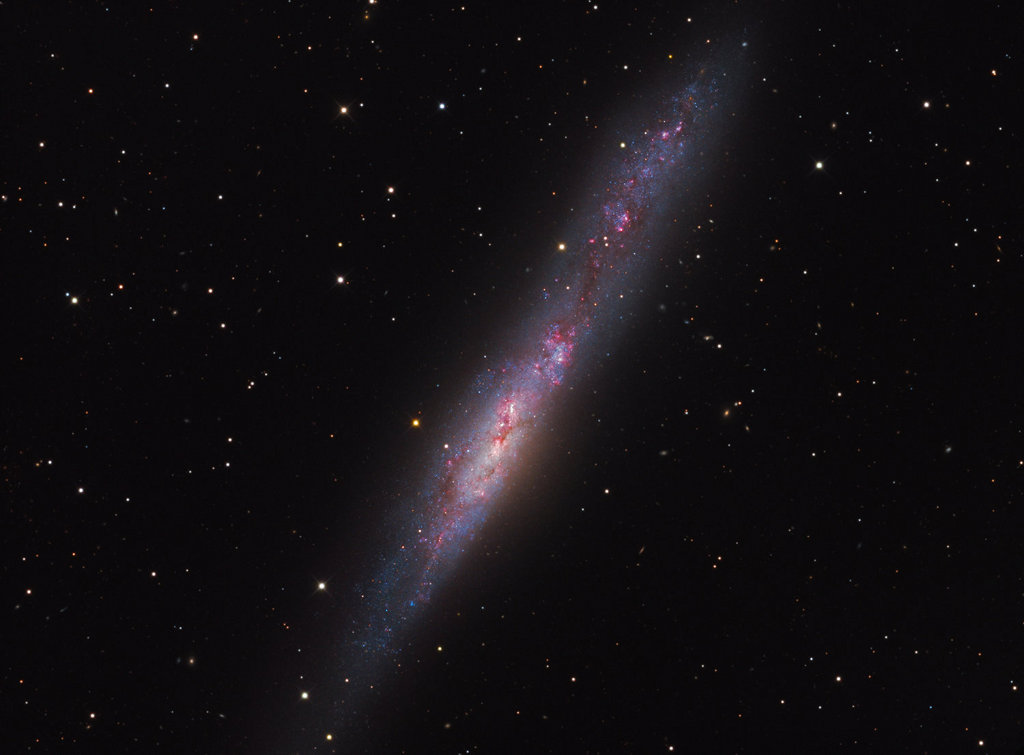 Irregular Galaxy NGC 55 -  Irregular galaxy NGC 55 is thought to be similar to the Large Magellanic