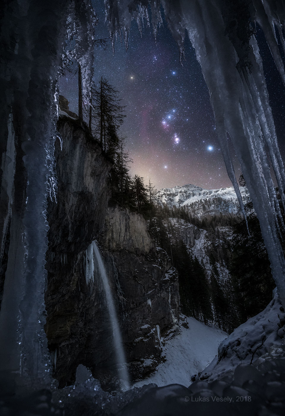 Orion over the Austrian Alps  -  Do you recognize this constellation?